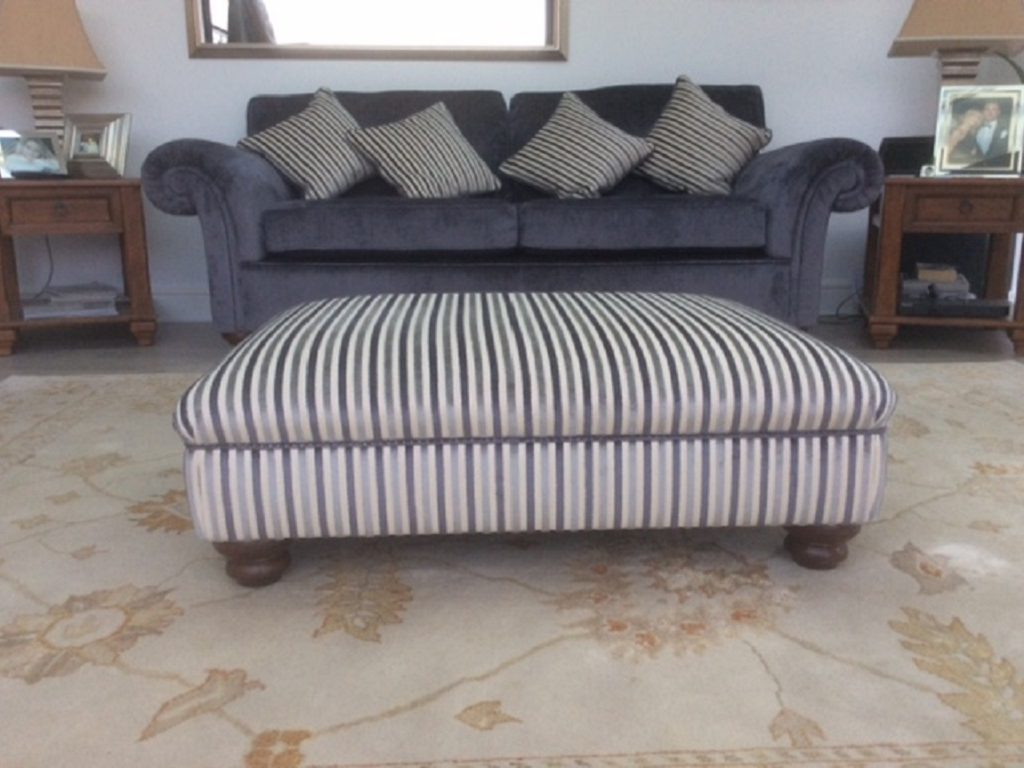 Hill Upholstery & DesignThree Piece suite recover Essex finished product