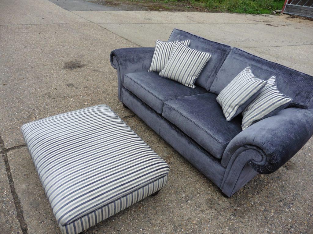 Hill Upholstery & Design Three Piece suite recover Essex