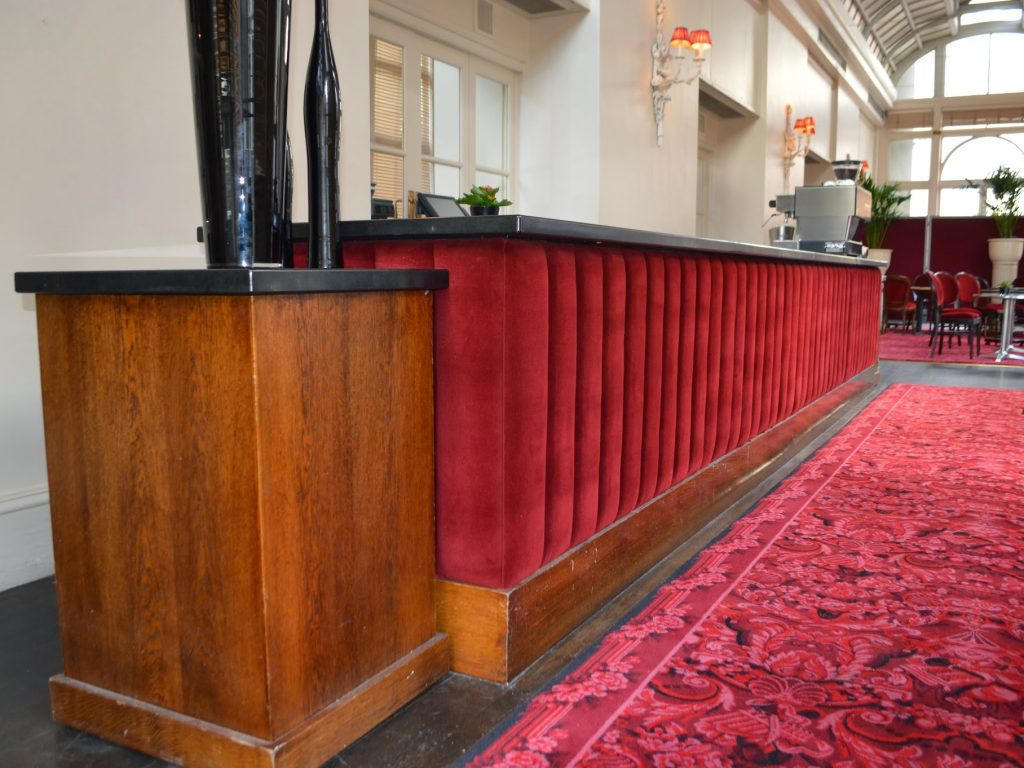 Royal Opera House, bar front, Hill Upholstery & Design