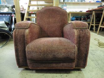 Old-tattered-brown-chair-Hill-Sofa-Reupholstery, Upholsterers in Essex