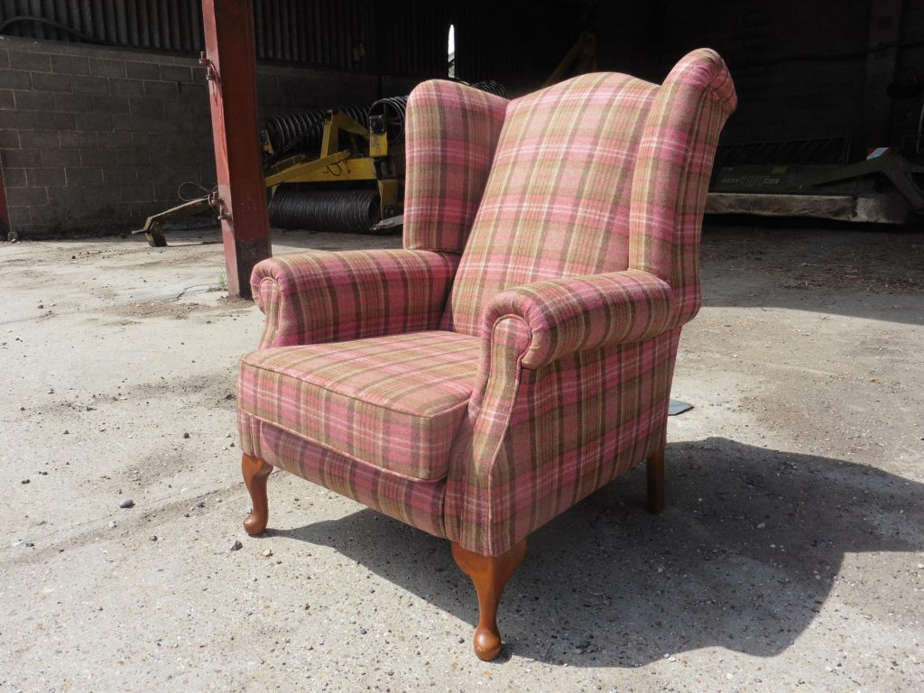 recover wing back chair after
