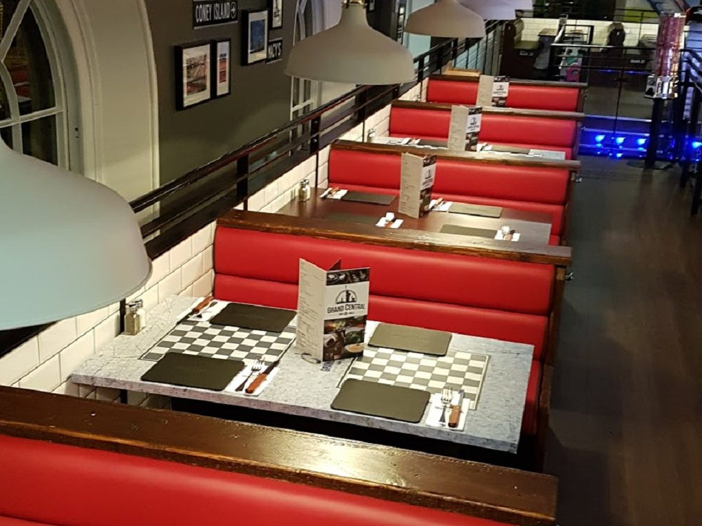 Grand Central Chelmsford Essex upholstered restaurant seating