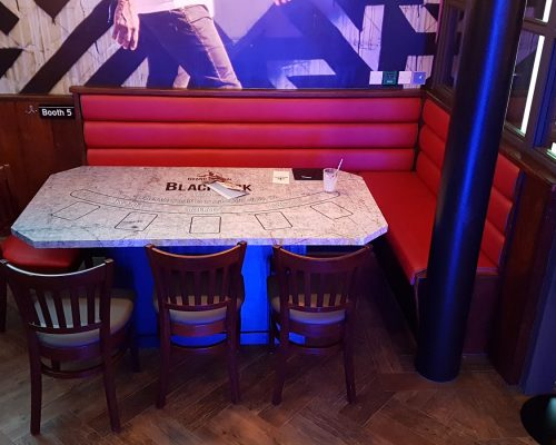 Upholstered restaurant seating Essex and London Hill Upholstery & Design