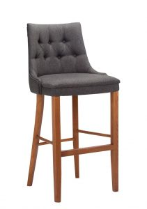 Cortona (deep buttoned) high chair - contract furniture from Hill Upholstery