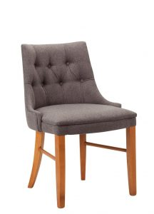 Cortona (deep buttoned) side chair - contract furniture from Hill Upholstery