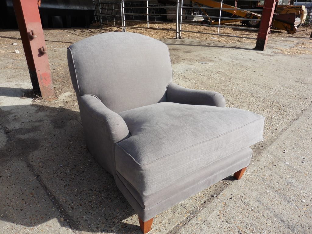 recovered upholstered chair