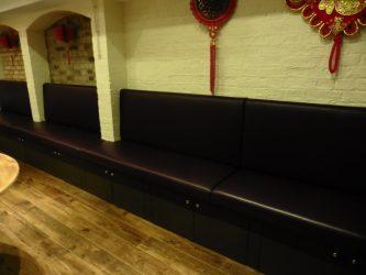 The Szechuan London, restaurant-seating-banquette-London