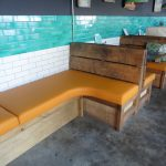 Oyster Creek upholstered restaurant seating