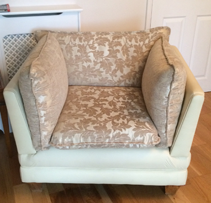 recover & redesign sofa- HIll Upholstery & Design, Essex Upholsterers