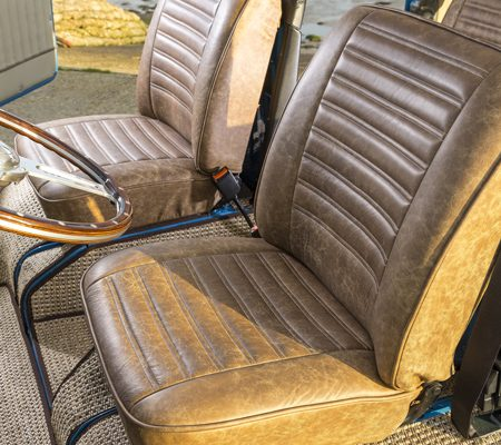 VW reupholstery front seat hill upholstery