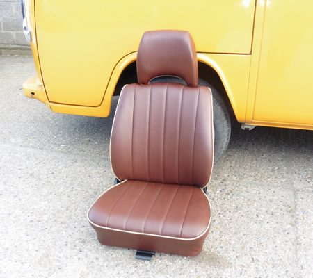 VW reupholstery seat leather hill upholstery