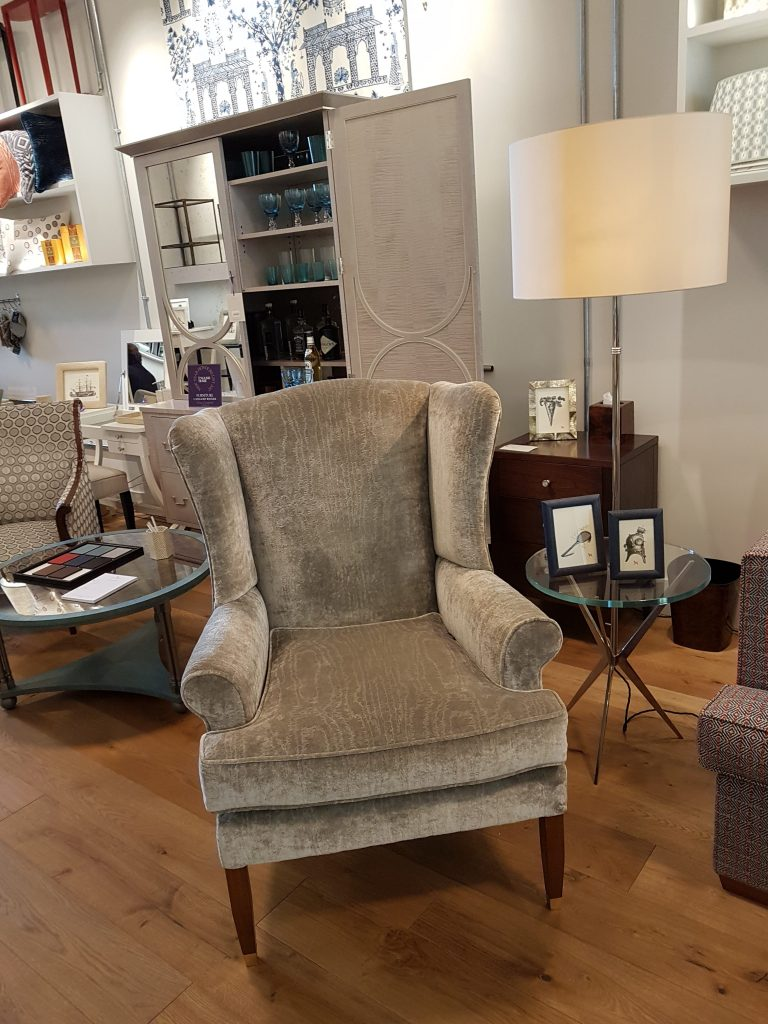 Nina Campbell Cantabria chair Hill Upholstery & Design Essex Upholstery & reupholstery