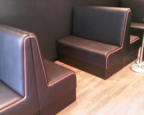 Caffe & Cream in Billericay, Essex manufacture seating Hill Upholstery & Design