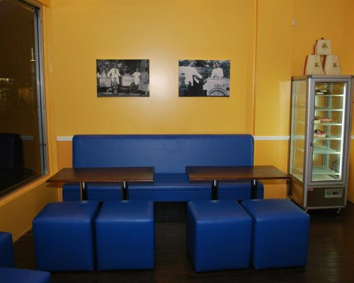 Ice Cream parlour manufacture seating Hill Upholstery & Design Essex
