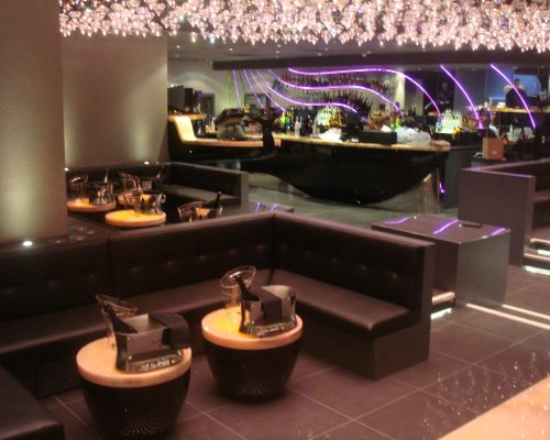 Jalouse Nightclub London Upholster new seating Hill Upholstery & Design Essex