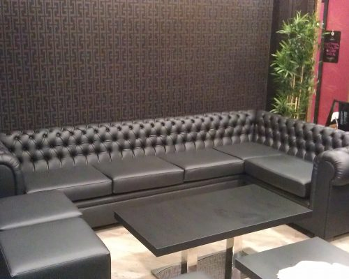 New restaurant seating Hill Upholstery & Design Essex
