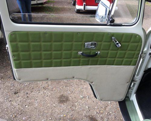 VW campervan reupholstery door Hill Upholstery & Design Essex