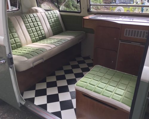VW campervan reupholstery seating Hill Upholstery & Design Essex