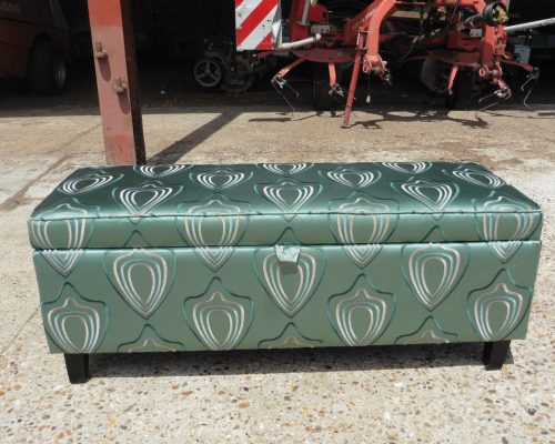 recover footstool, Upholsterers Essex - Hill Upholstery & Design