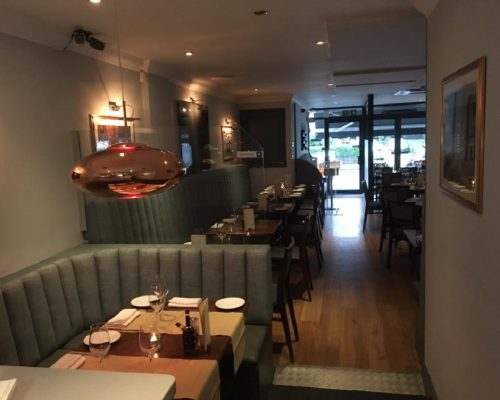 Cucina Italian Restaurant Leigh on sea Essex manufacture restaurant seating recover restaurant booth restaurant banquette recover dining chair Southend upholsterers Fobbing (2)