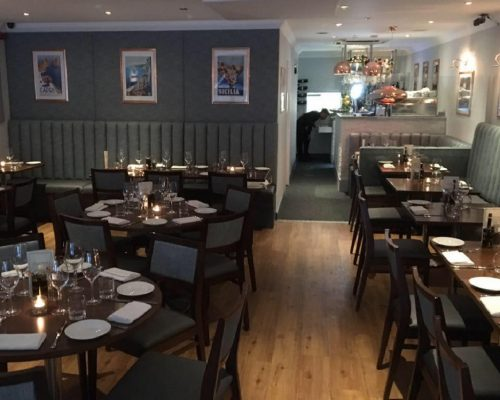 Cucina Italian Restaurant Leigh on sea Essex manufacture restaurant seating recover restaurant booth restaurant banquette recover dining chair Southend upholsterers Fobbing (3)
