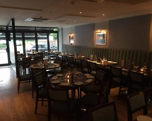 Cucina Italian Restaurant Leigh on sea Essex manufacture restaurant seating recover restaurant booth restaurant banquette recover dining chair Southend upholsterers Fobbing Hill Upholstery & Design