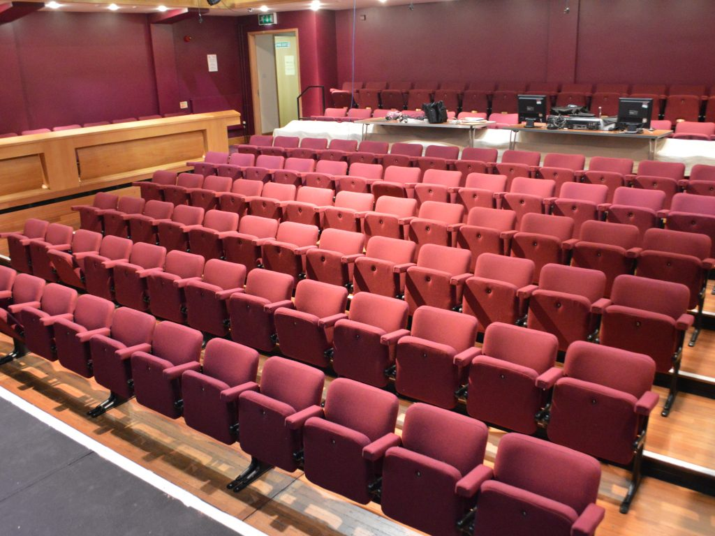 Theatre seat upholstery auditorium upholstery recover Hampton Hill theatre London upholsterer (1)