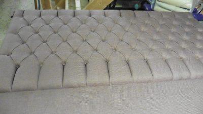 Deep buttoned upholstered headboard - Hill Upholstery & Design