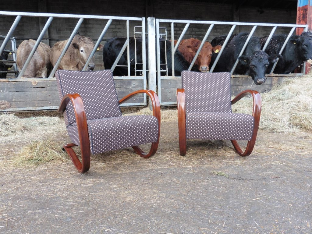 JINDŘICH HALABALA vintage chairs Chelmsford Halabala chairs reupholster - Hill Upholstery & Design