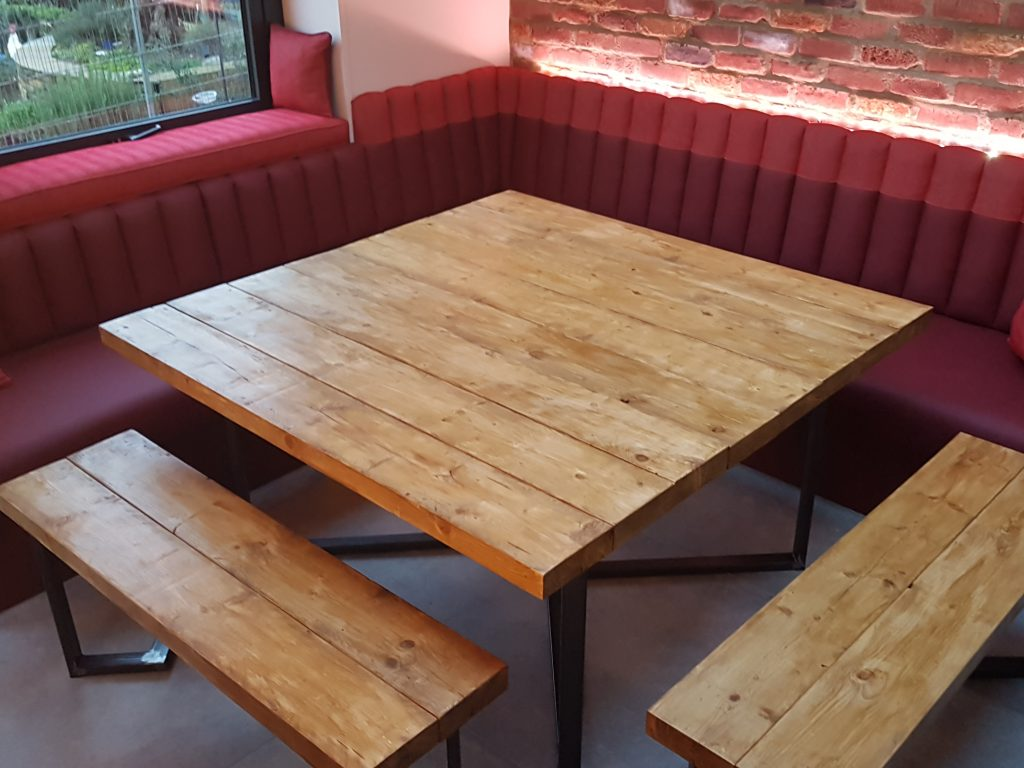 Custom made upholstered kitchen bench, Essex Upholsterer, Westcliff (8)