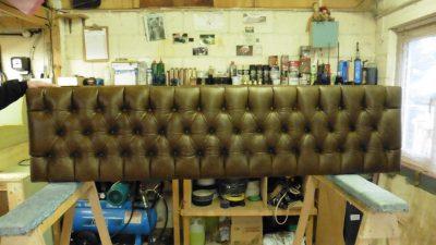 Deep buttoned headboard Hill Upholstery and Design Essex