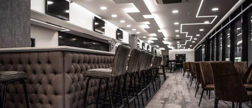 Bespoke upholstered bar Watford FC Hill Upholstery & Design Essex London