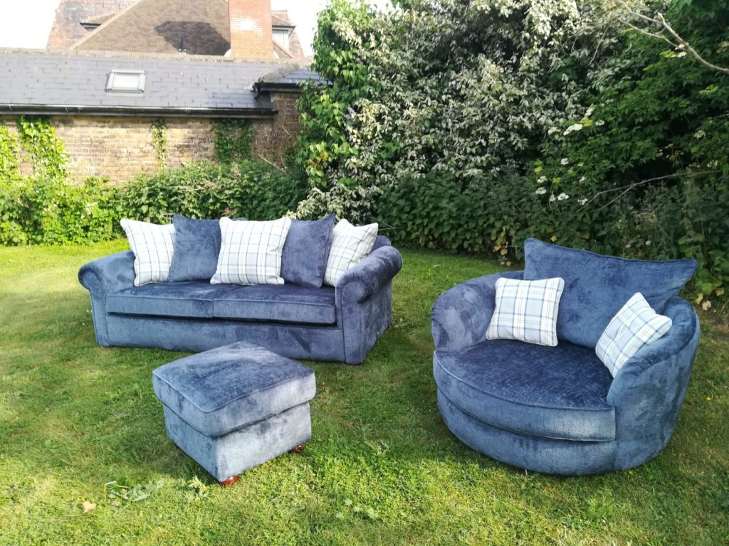 Reupholstered sofa Rayleigh Hill Upholstery & Design Essex London