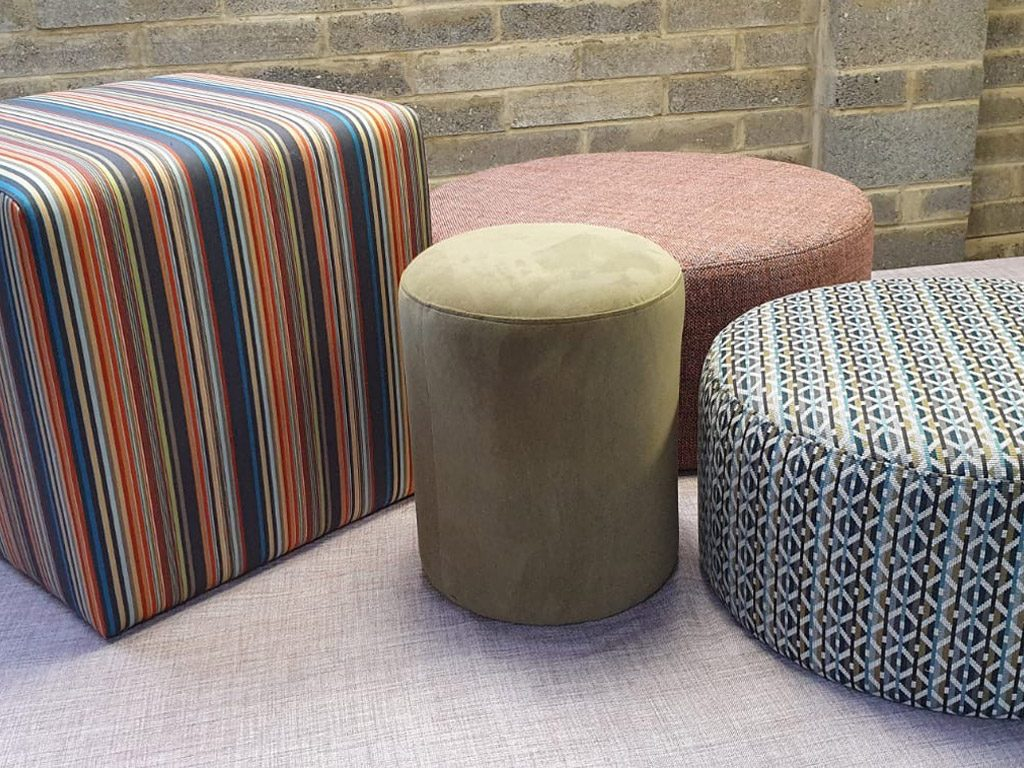 Bespoke Upholstered Footstools Pouffes Essex