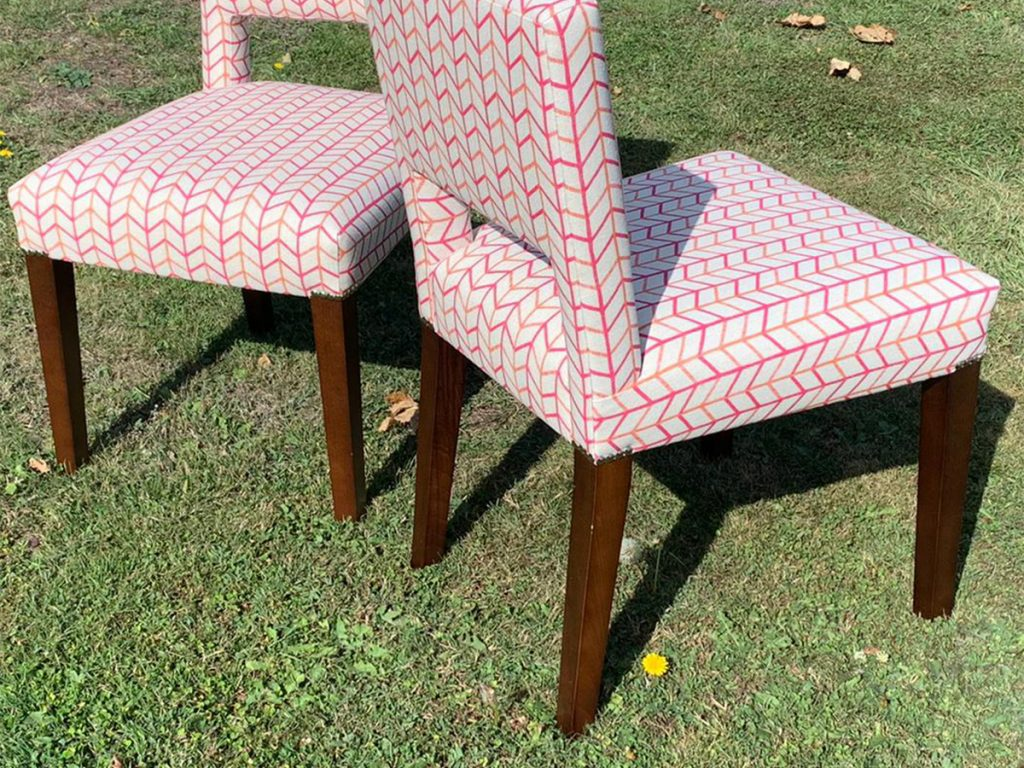 Bespoke Reupholstered Dining Chairs 03 Hill Upholstery